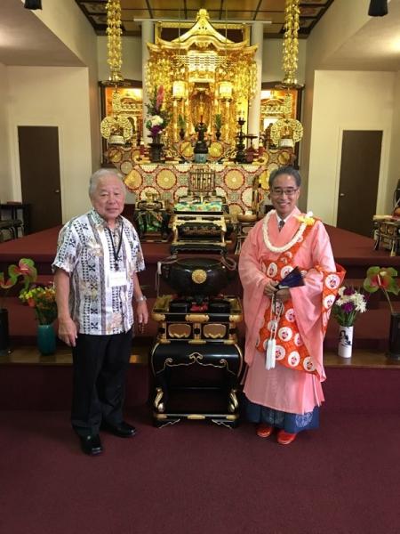 Bishop Matsumoto & Kyodan President Francis Uyeno 7/17/2016
