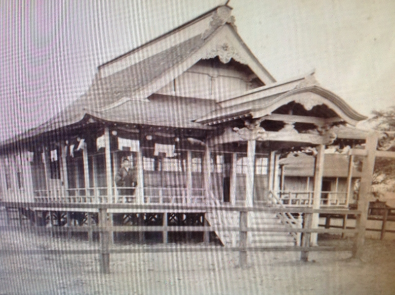 original temple - 1902 with Rev. Josen Yempuku
