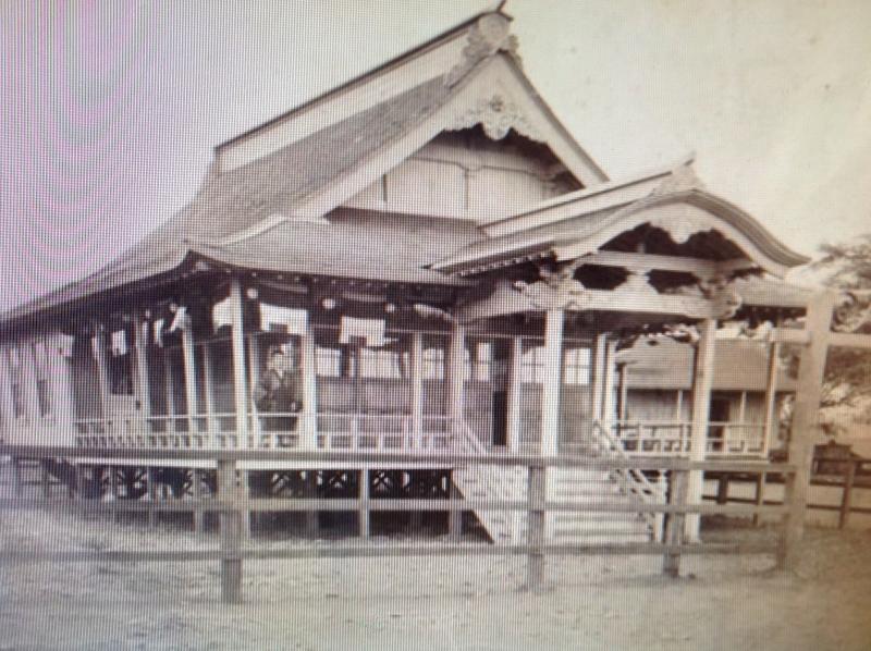 original temple - 1902 with Rev. Josen Yempuku