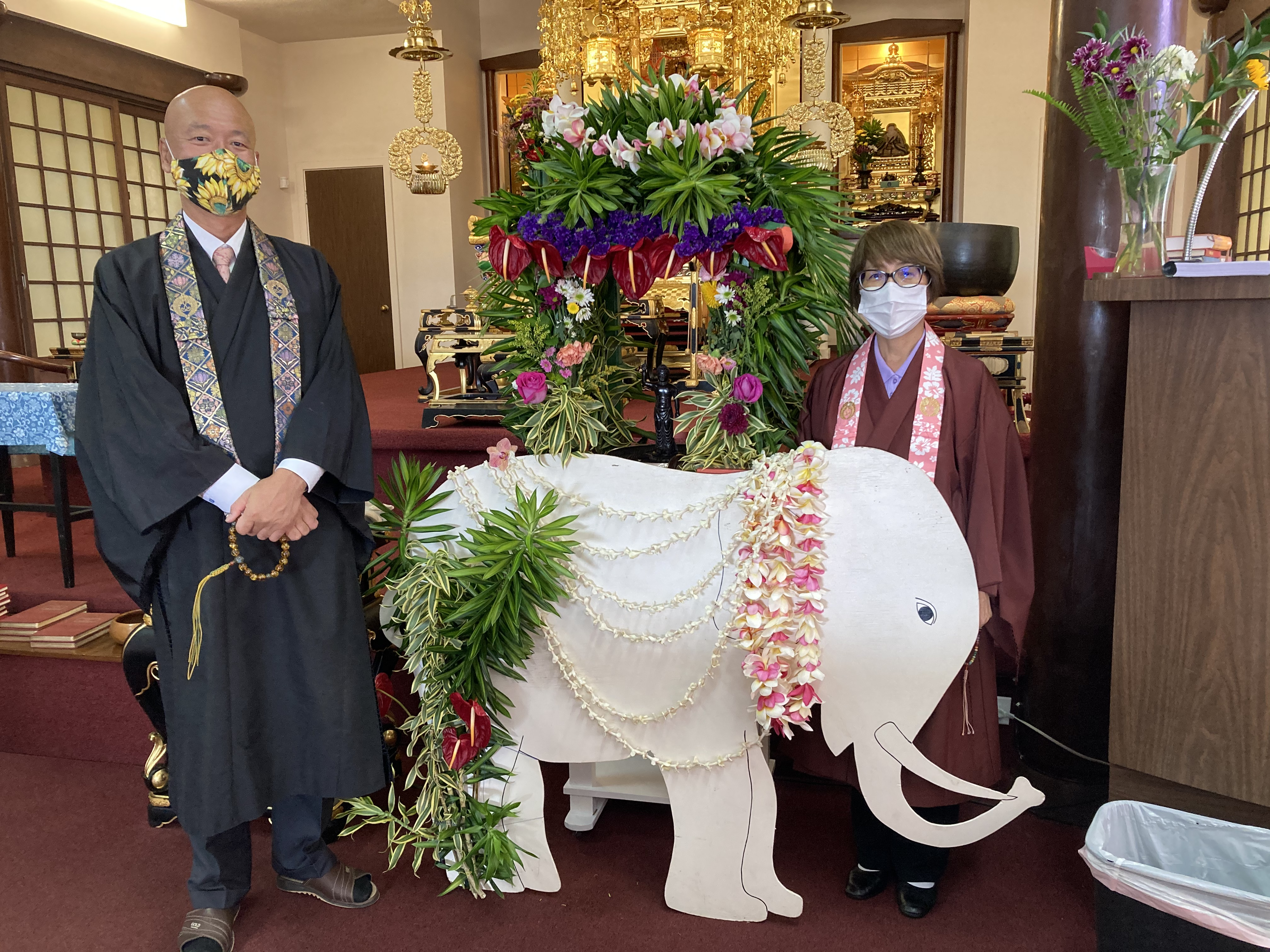 Rev. Soga and Okusan - 2021 Hanamatsuri